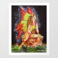 The Gloriosa Lily Fairy Art Print