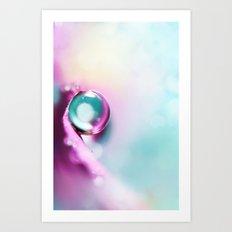Honesty blue Drop Art Print