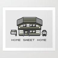 Art Print featuring Home Sweet Home  by Zeke Tucker