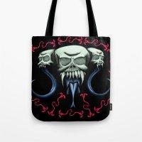 Blind Skulls N' Snakes  Tote Bag