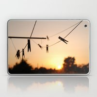 Swallows on a wire Laptop & iPad Skin