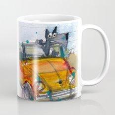 Scottish Terrier Driving a VW Bus Mug