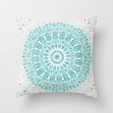 A Glittering Mandala  Throw Pillow