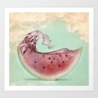 Watermelon sky Art Print