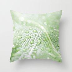 green leaf Throw Pillow