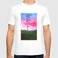 For God So Loved The Wor… Mens Fitted Tee White SMALL