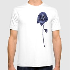 Rose Pink Mens Fitted Tee White SMALL