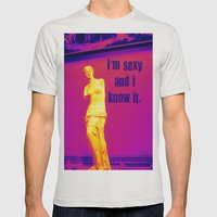 I'm sexy and I know it - Venus edition Mens Fitted Tee Silver SMALL