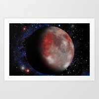 Red Moon Art Print
