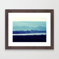 Ireland Blue Framed Art Print