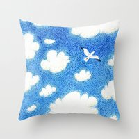 Seagull In The Sky Throw Pillow