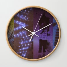 DropArt collage Wall Clock