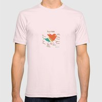 Twitter Mens Fitted Tee Light Pink SMALL