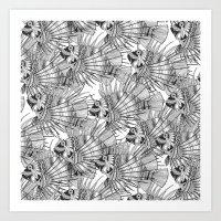 fish mirage black white Art Print