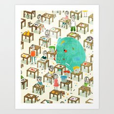 Ellie The Elephant Art Print