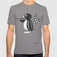 Pingu Mens Fitted Tee Tri-Grey SMALL