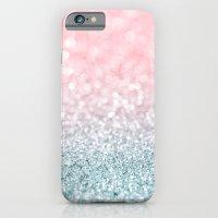 Aqua And Pink Glitter Gr… iPhone 6 Slim Case