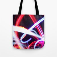 Lightpainting Abstract Tote Bag