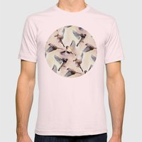 Sparrow Flight Mens Fitted Tee Light Pink SMALL