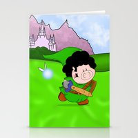 zelda Stationery Cards featuring Zelda! by Afro Pig
