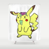 Zombiechu! Shower Curtain