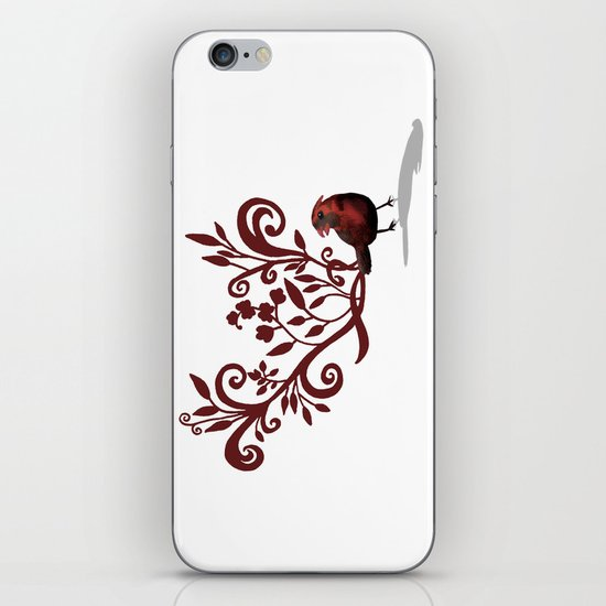 Swirly Bird iPhone & iPod Skin