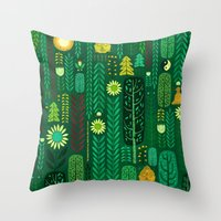 Sacred Forest (Portrait) Throw Pillow