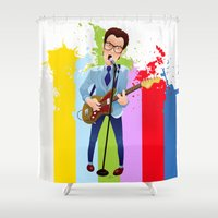 Elvis (Costello) Lives! Shower Curtain