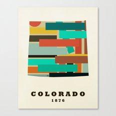 colorado state map modern Canvas Print