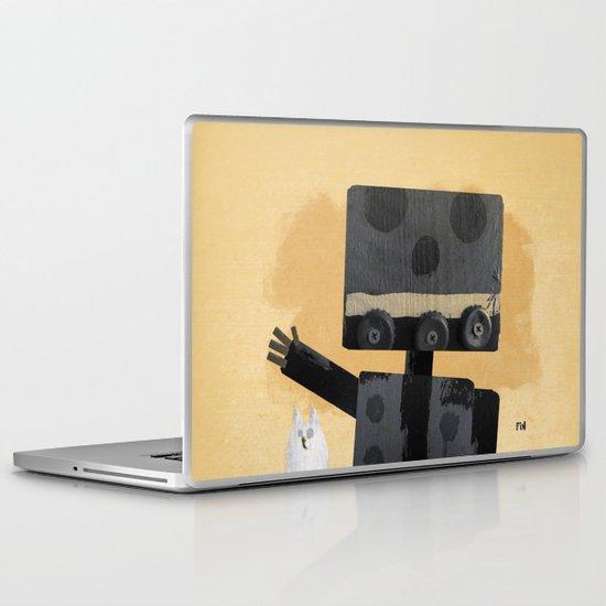 Happy Robot Happy Cat Laptop & iPad Skin