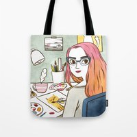 Hard At Work Tote Bag