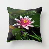 Little Water Lily  Throw Pillow