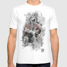 Howl at the Moon White SMALL Mens Fitted Tee