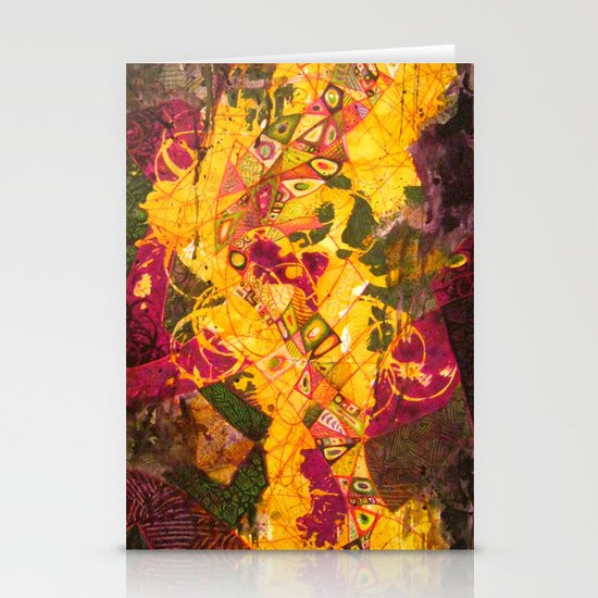 Abstract Stationery Card