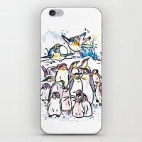 Penguin family iPhone & iPod Skin