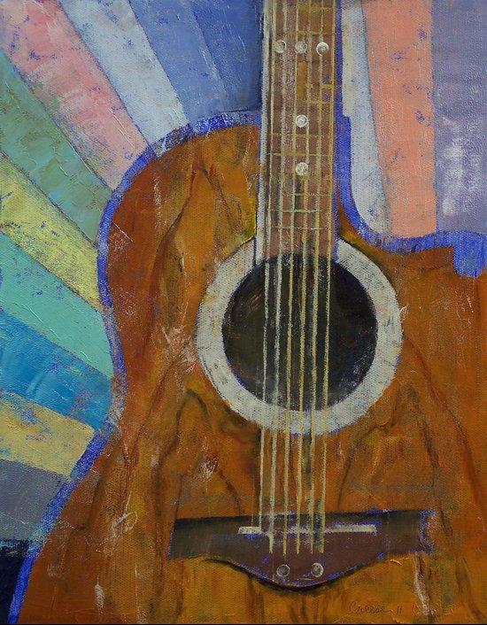 Guitar Sunshine Art Print