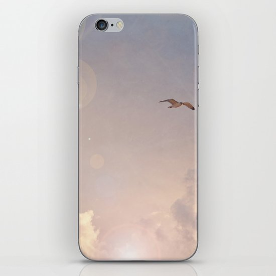 Seagull In the Clouds iPhone & iPod Skin