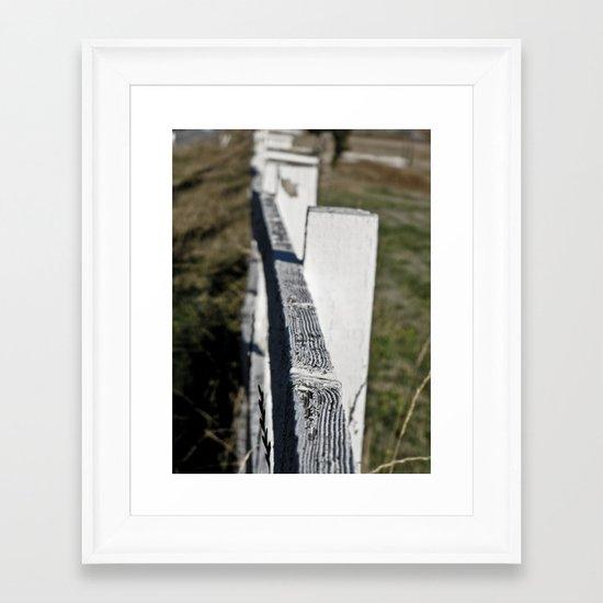 Fenced In Framed Art Print