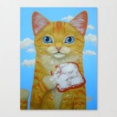 YELLOW TABBY AND BEIGNET Canvas Print