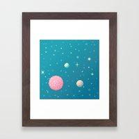 Brain Planet (8bit) Framed Art Print