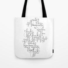 Cursive Cursing Tote Bag