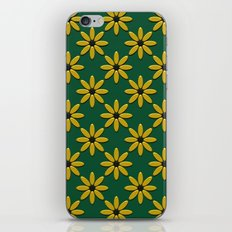 Yellow Flowers on Green Field iPhone & iPod Skin