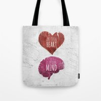 OPEN HEART, OPEN MIND Tote Bag