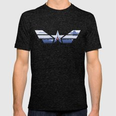 The Captain (Stars and Stripes) Mens Fitted Tee Tri-Black SMALL