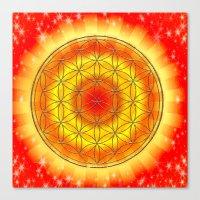 Mandala Blume des Lebens Canvas Print