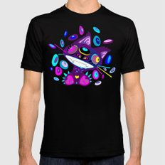 Psychocat SMALL Black Mens Fitted Tee
