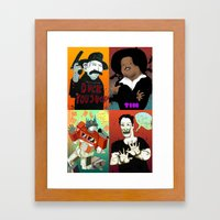 Pop mix of the some of the greats pop culture memories.  Framed Art Print