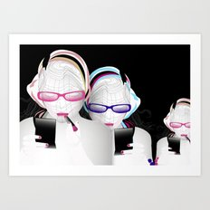 Girly Art Print