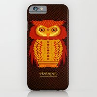 iPhone & iPod Case featuring Geometric Owl by chobopop