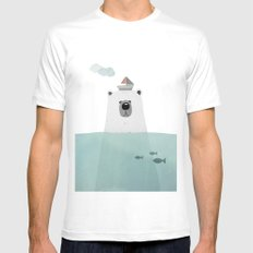 Polar bear SMALL Mens Fitted Tee White